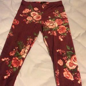 Pants - Floral sweatpants